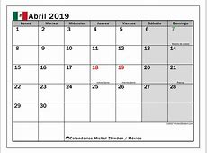Calendario abril 2019, México Michel Zbinden es