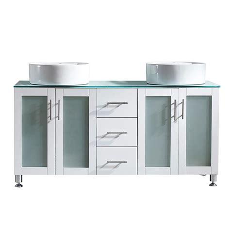 tuscany home depot vinnova tuscany 60 in w x 22 in d x 30 in h vanity in white with glass vanity top in aqua