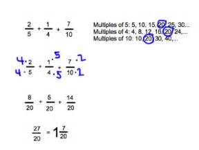 Adding Fractions with Unlike Denominators Examples