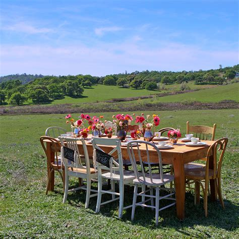breanna farm table with mismatched chairs forever