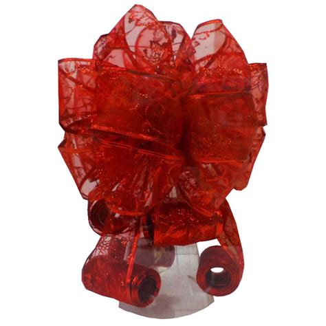 home accents holiday red tree topper bow asrdhd