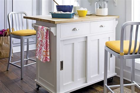 portable kitchen islands  solve  small kitchen woes