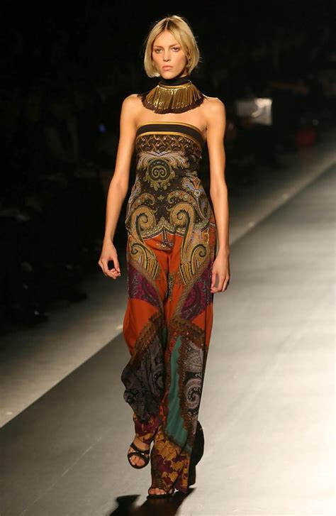 milan fashion week etro fashion show zimbio