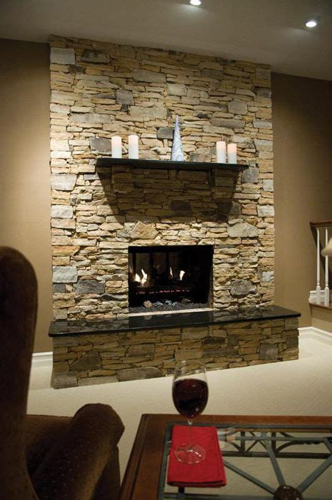 stone veneer fireplace  love  cover  red brick