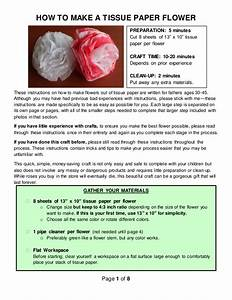 How To Make Tissue Paper Flowers Instructions
