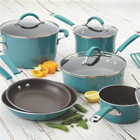 pans pots rachael ray cookware glass sets stoves porcelain masak alat ceramic cooktops pan cook nonstick shares furniterus thecookwaregeek