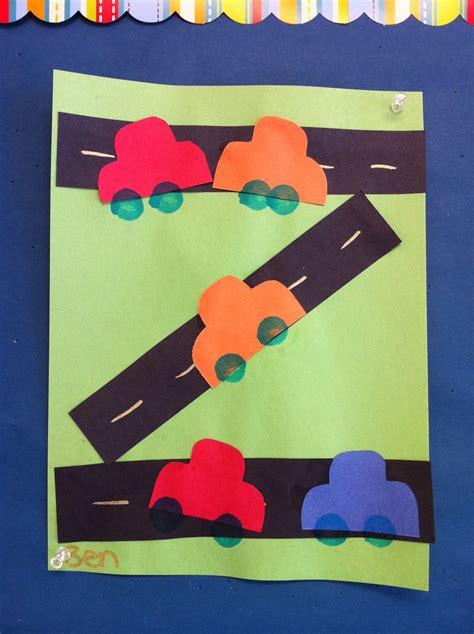 preschool road car craft arts and crafts 800 | 489e37cdbc9986b17a83fbcef2abc496
