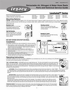 Levelwind Series Retractable Air  Nitrogen  U0026 Water Hose
