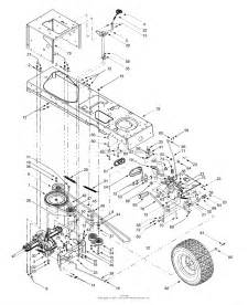 Mtd 13ai607h098  2000  Parts Diagram For Drive  Controls  Rear Wheels