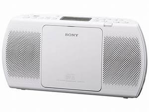 Poste Radio Sony : radio portable sony zs pe40cp blanc top achat ~ Maxctalentgroup.com Avis de Voitures