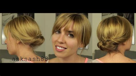 tucked bun chignon easy quick everyday hairstyles for