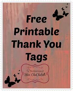 the adventures of miss chuchubells diy projects free With free printable thank you tags template