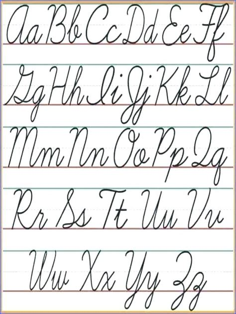 Images Of The Cursive Alphabet Vector Cursive Alphabet In The Style Of Lettering And Calligraphy