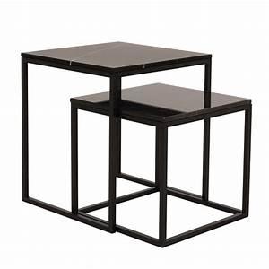Table Gigogne Marbre : temahome table gigogne 55cm prairie marbre noir ~ Teatrodelosmanantiales.com Idées de Décoration