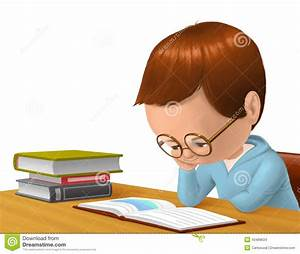 Child Reading A Book Stock Illustration - Image: 43489634
