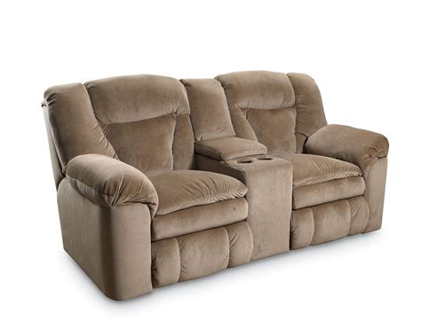 double recliner sofa with console lane talon double reclining console loveseat