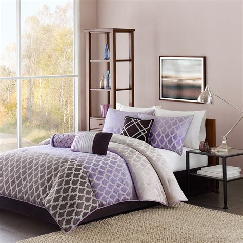 Gray And Purple Bedding Product Choices Homesfeed