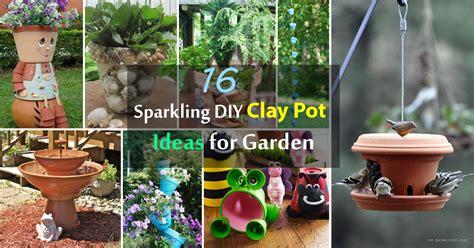 16 sparkling diy clay pot ideas for garden balcony