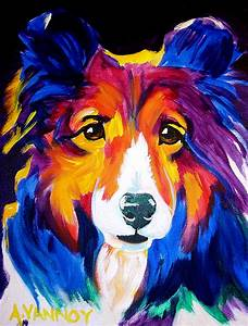 Sheltie - Missy Painting by Alicia VanNoy Call