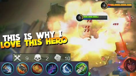 New Hero Grock With Dmg Fighter Build! Mobile Legends