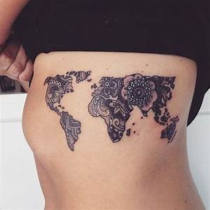 The 25+ best ideas about World Map Tattoos on Pinterest ...