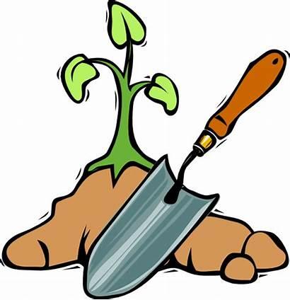 Clip Gardening Shovel Clipart Domain Clker Svg