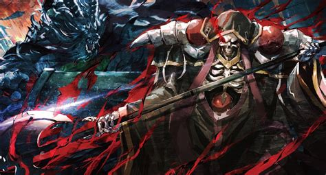 wallpaper overlord anime ainz ooal gown