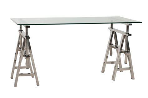 bureau en verre pas cher bureau verre et acier pas cher