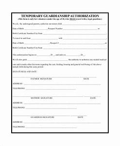 guardianship forms With legal documents for temporary child custody