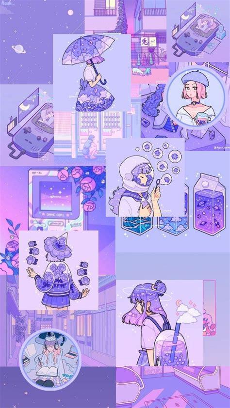 wallpaper aesthetic ungu pastel