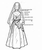 Nun Catholic Costume Habit Nuns Patterns Dolls Chiara Joan 1977 Habits Pattern Parts Medieval Clothing Sewing Roman Sister Gene Outfit sketch template