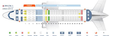 seat map airbus   delta airlines  seats  plane