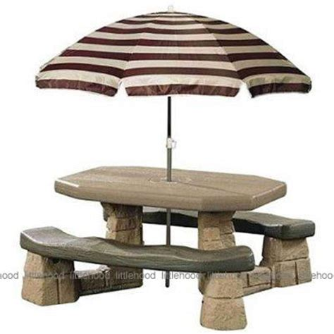 step 2 table with umbrella step2 naturally playful picnic table with umbrella