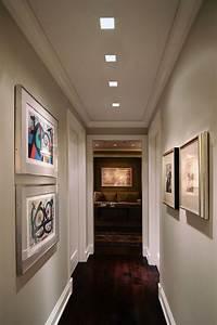 Recessed lighting in hallways : Lighting idea for hallway plaster in recessed
