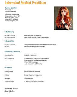 Lebenslauf Student Muster by Lebenslauf Student Muster Dokument Blogs