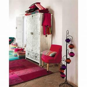 Maison Du Monde Armoire : wooden maison du monde armoire in white and silver carved ~ Melissatoandfro.com Idées de Décoration