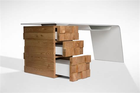 bureau high this modern desk charges your phone wirelessly freshome com