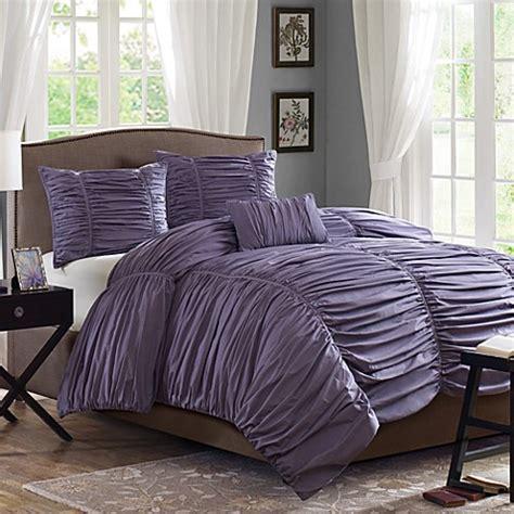 madison park delancey plum 4 piece comforter set bed