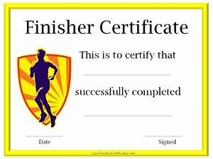 run certificates certificate for completing the c25k With fun run certificate template