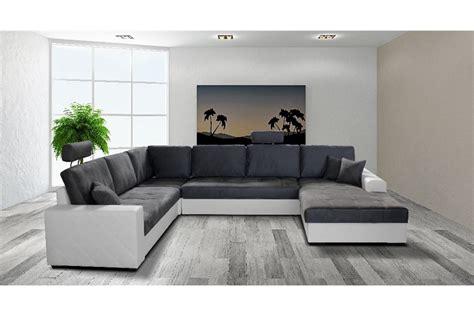 grand canap en u canapé d 39 angle convertible en u laure design