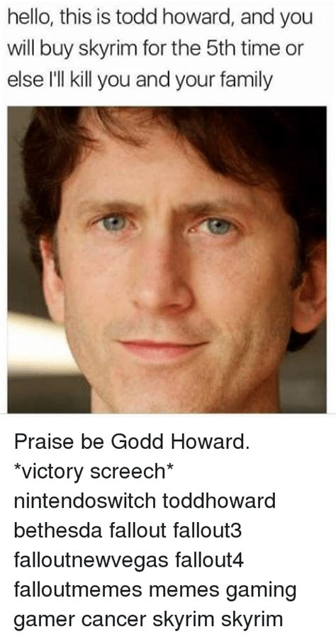 Todd Howard Memes - 25 best memes about victory screech victory screech memes