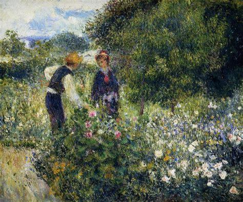 Picking Flowers Pierre Auguste Renoir