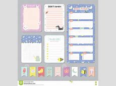 Cute Calendar Daily Planner Cartoon Vector CartoonDealer
