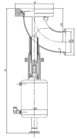 Y-type Pneumatic Tank Bottom Seat Valve | Drain Valve