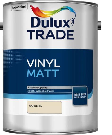 dulux trade gardenia matt vinyl paint 5l departments