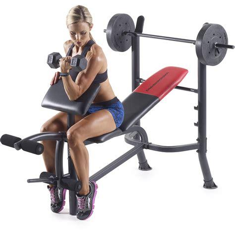 weider pro  standard bench   lb vinyl weight set