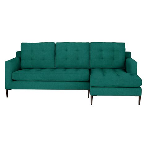 chaise cing go sport lewis draper rhf chaise end sofa leg emerald at lewis