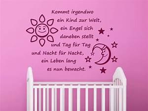 Wandtattoo Für Babyzimmer : wandtattoo kommt irgendwo ein kind zur welt ein engel sich daneben stellt ~ Markanthonyermac.com Haus und Dekorationen