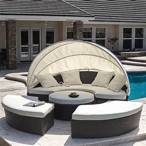 top 10 best outdoor daybeds in 2018 With why choosing rattan outdoor daybed with canopy