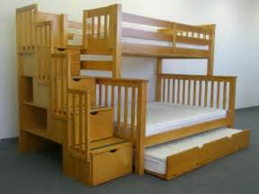 save big on stairway bunk bed twin over full with twin